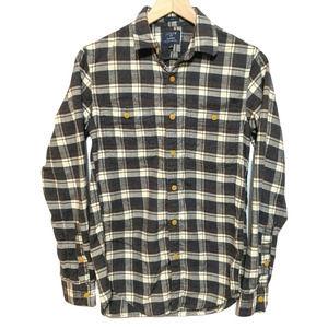 J. Crew Plaid Flannel Shirt XS Men's Slim
